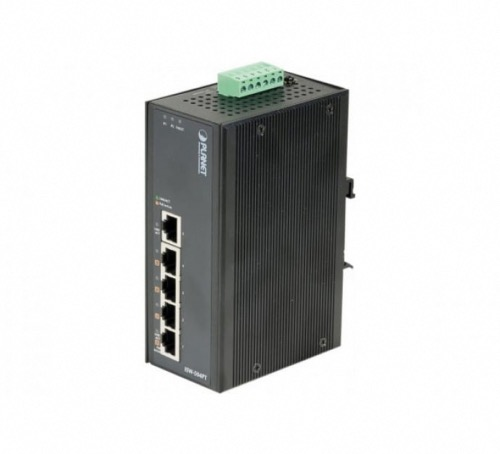 Switch industriel 5 ports 4 PoE Planet ISW-504PT