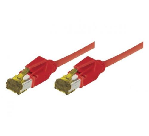 Cordon ethernet 10 gigabit Cable Draka Cat.7 rouge - 50 cm