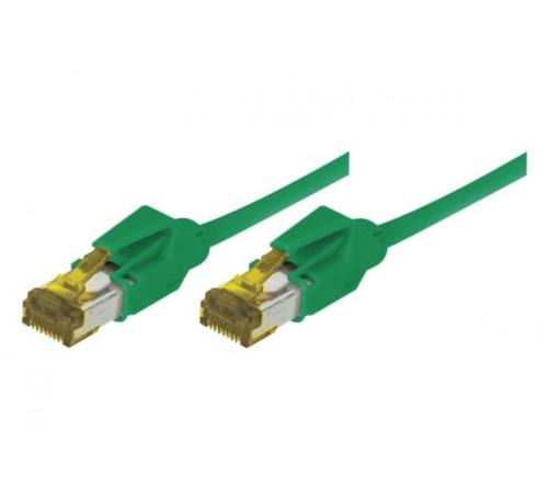 Cordon ethernet 10 gigabit Cable Draka Cat.7 vert - 1,5 M