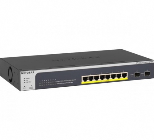 Switch 8 ports gigabit PoE+ 190W 2 SFP Netgear GS510TPP