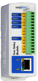 WebRelay Quad PoE 4 contacts secs