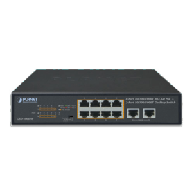 Switch 10 ports gigabit 8 PoE+ Planet GSD-1008HP
