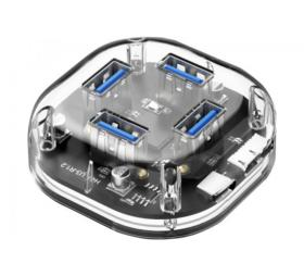 Hub 4 ports USB 3.0 transparent HB304