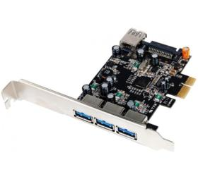 Carte controleur 4 ports USB 3.0 PCI Express 2.0 1x