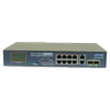 Switch 8 ports 10/100 PoE+ 2 gigabit RJ45/SFP combo Planet