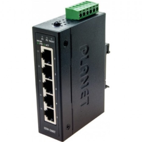 Switch industriel 5 ports 10/100 Planet ISW-500T