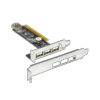 Carte  extension 4 ports USB 2.0 PCI