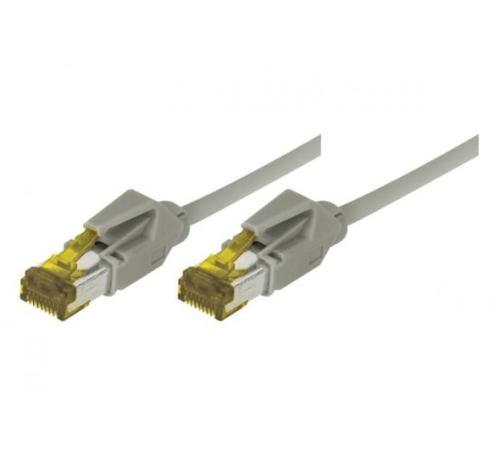 Cordon ethernet 10 gigabit Cable Draka Cat.7 gris - 50 cm
