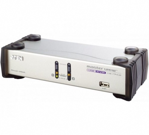 Switch KVM ATEN CS1742 VGA/USB 2 ports Dual screen