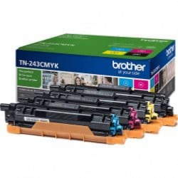 Pack 4 toners 1000 pages Brother TN-243CMYK