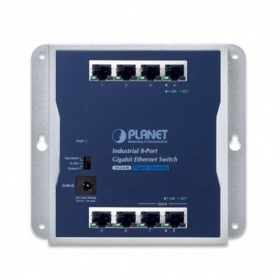 Switch industriel mural 8 ports Giga Planet WGS-810