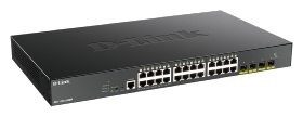 Switch D-LINK Smart+ 24 ports gigabit PoE+ 370W 4 SFP+