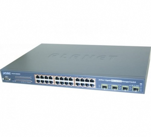 Switch manageable 24 ports Gigabit PoE+ 4 SFP Planet