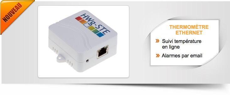 Thermom�tre ethernet SNMP autonome