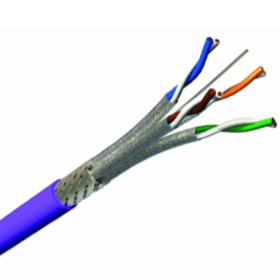 Câble Ethernet monobrin CAT7 S/FTP LSZH violet 500 M