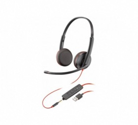 Micro casque USB-A + Jack Blackwire C3225 Plantronics