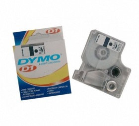 Dymo ruban D1 12 mm noir sur transparent
