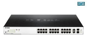 Switch D-LINK EasySmart 24 ports giga PoE 2 combo SFP