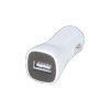 Chargeur allume cigare 1 port USB 2,1 A blanc